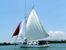 sv Choupique - Friendship 31 Sloop for sale - gaff rigged